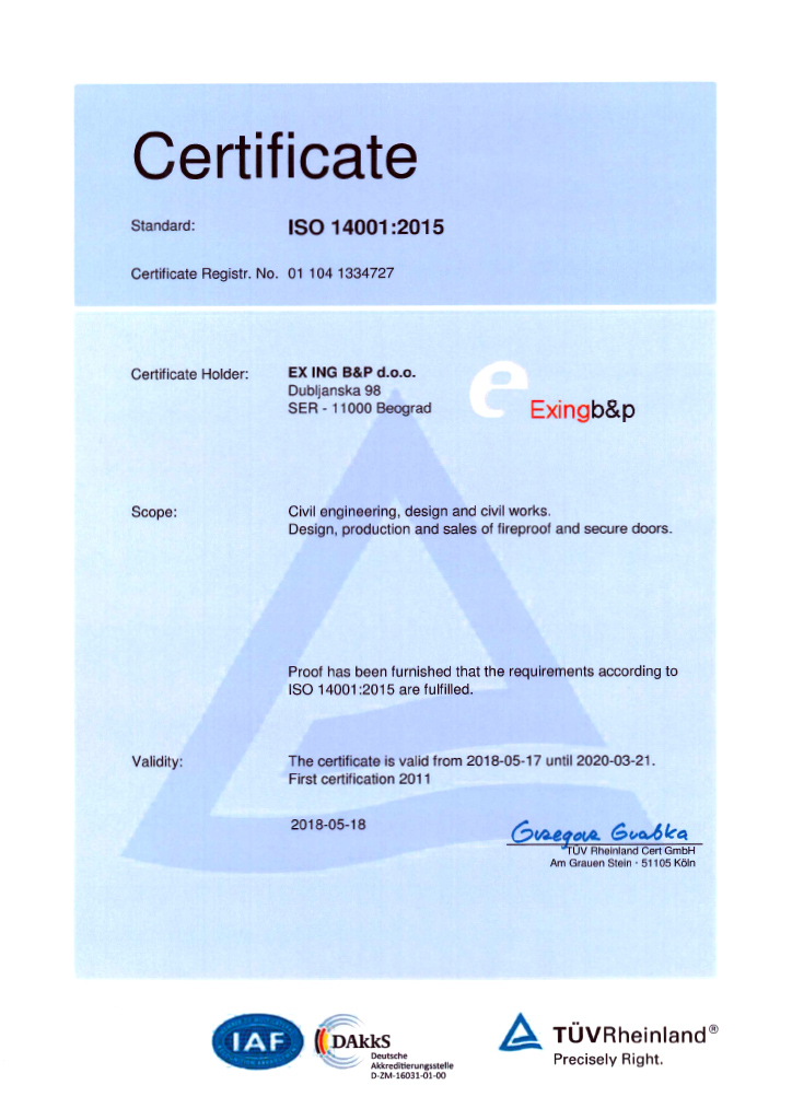 Exing B&P | CERTIFICATES
